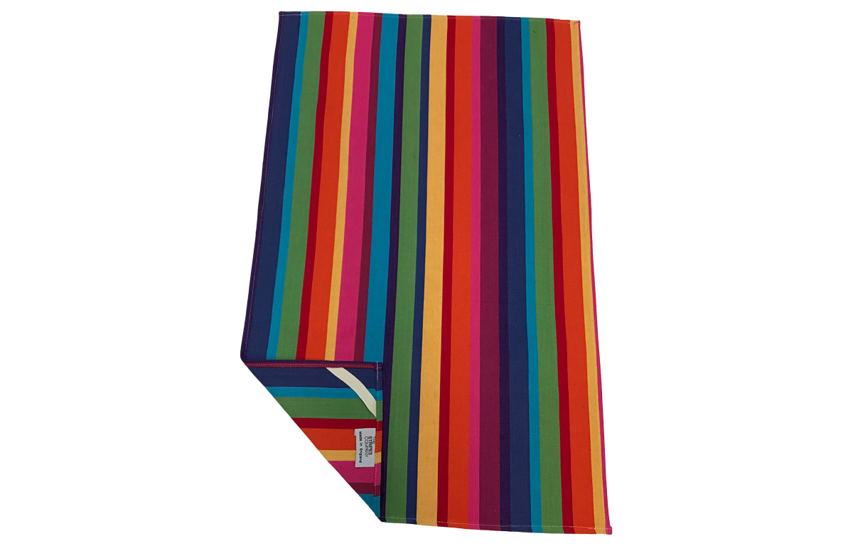 Rainbow Stripe Tea Towels | The Stripes Company