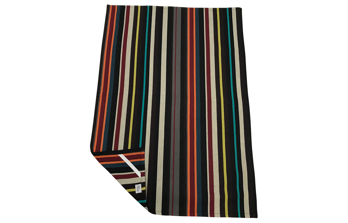 Black Stripe Tea Towels | Striped Teatowels Shooting Stripes