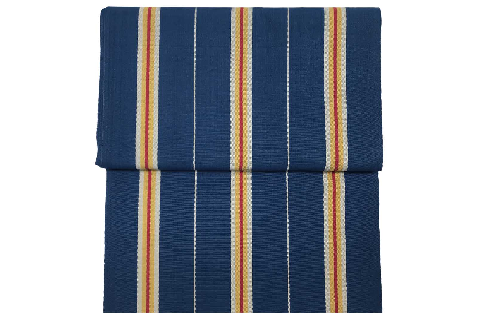 Navy blue, Off white & Gold Vintage Deckchair Fabric