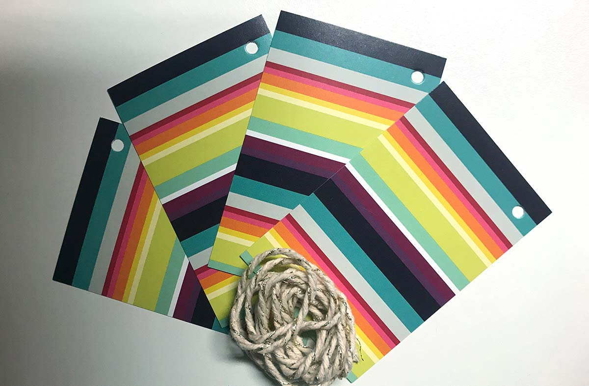 Stripe Gift Tags from The Stripes Company bright rainbow stripe