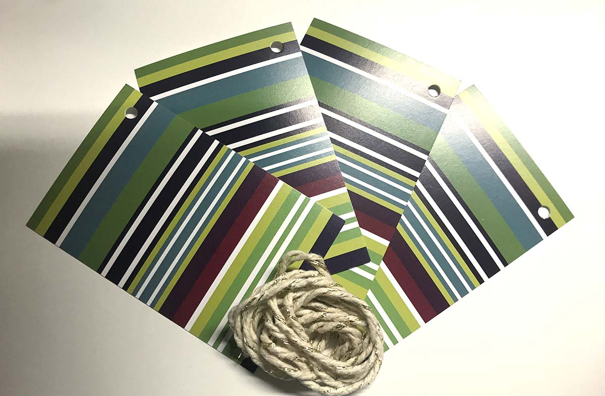 Blue and Green Stripe Gift Tags from The Stripes Company