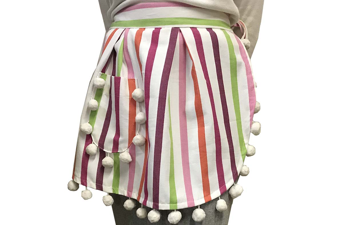 White, Pink, Purple - Waist Aprons from The Stripes Company