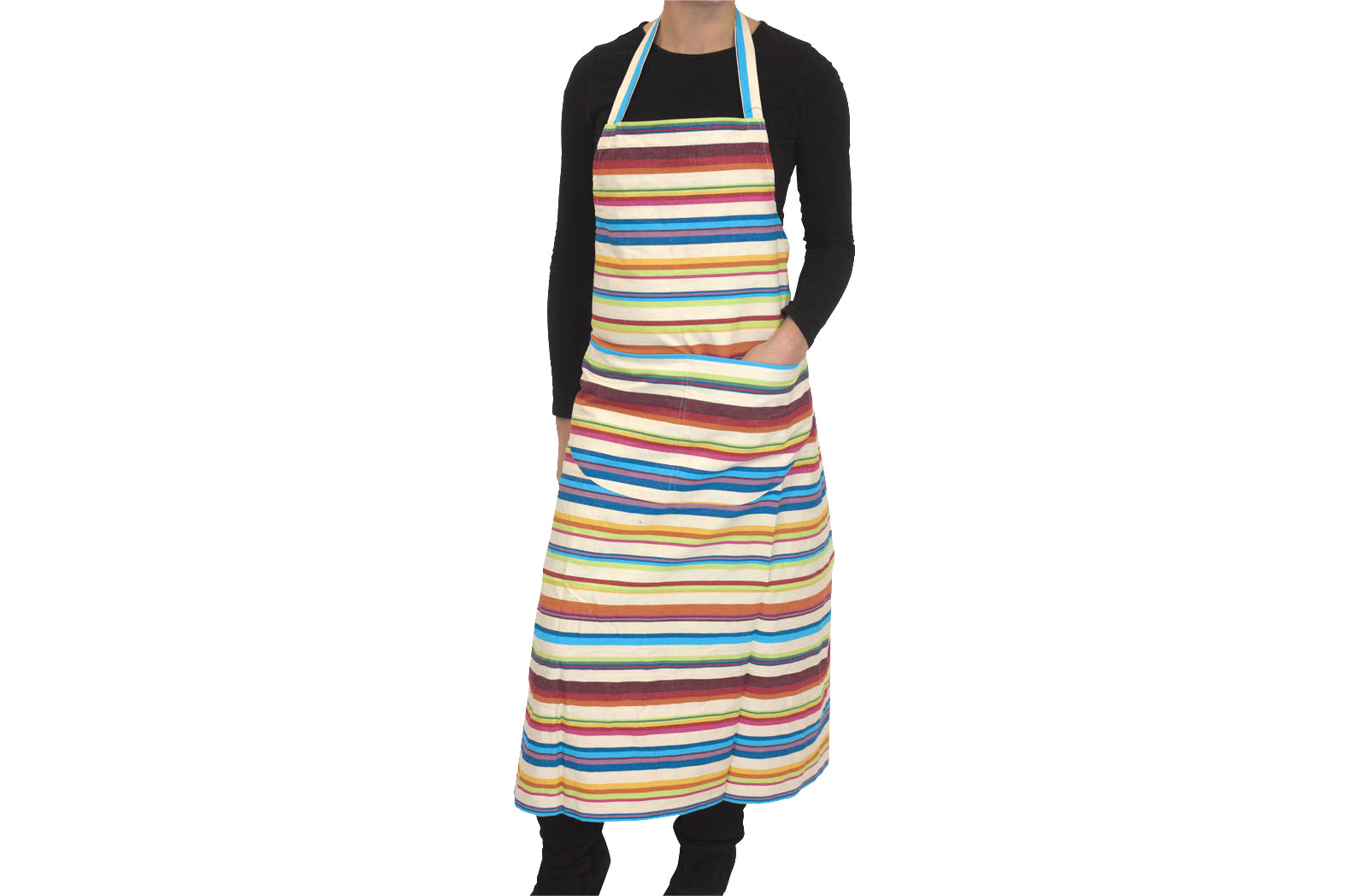 Cream Striped Aprons - Basketball  Stripe