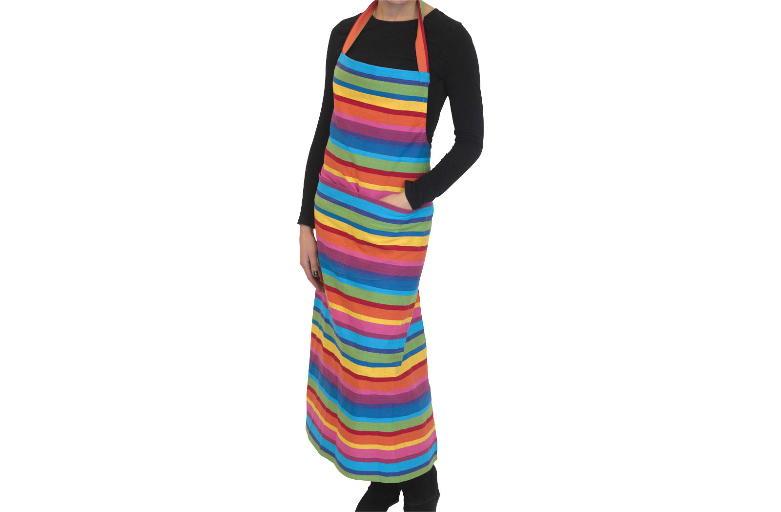 Multi Colour Rainbow Striped Aprons