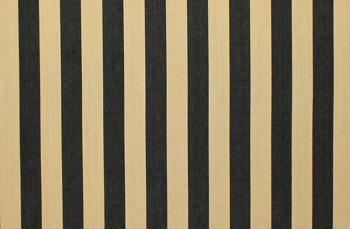 Baton Black And Beige Striped Fabrics The Stripes