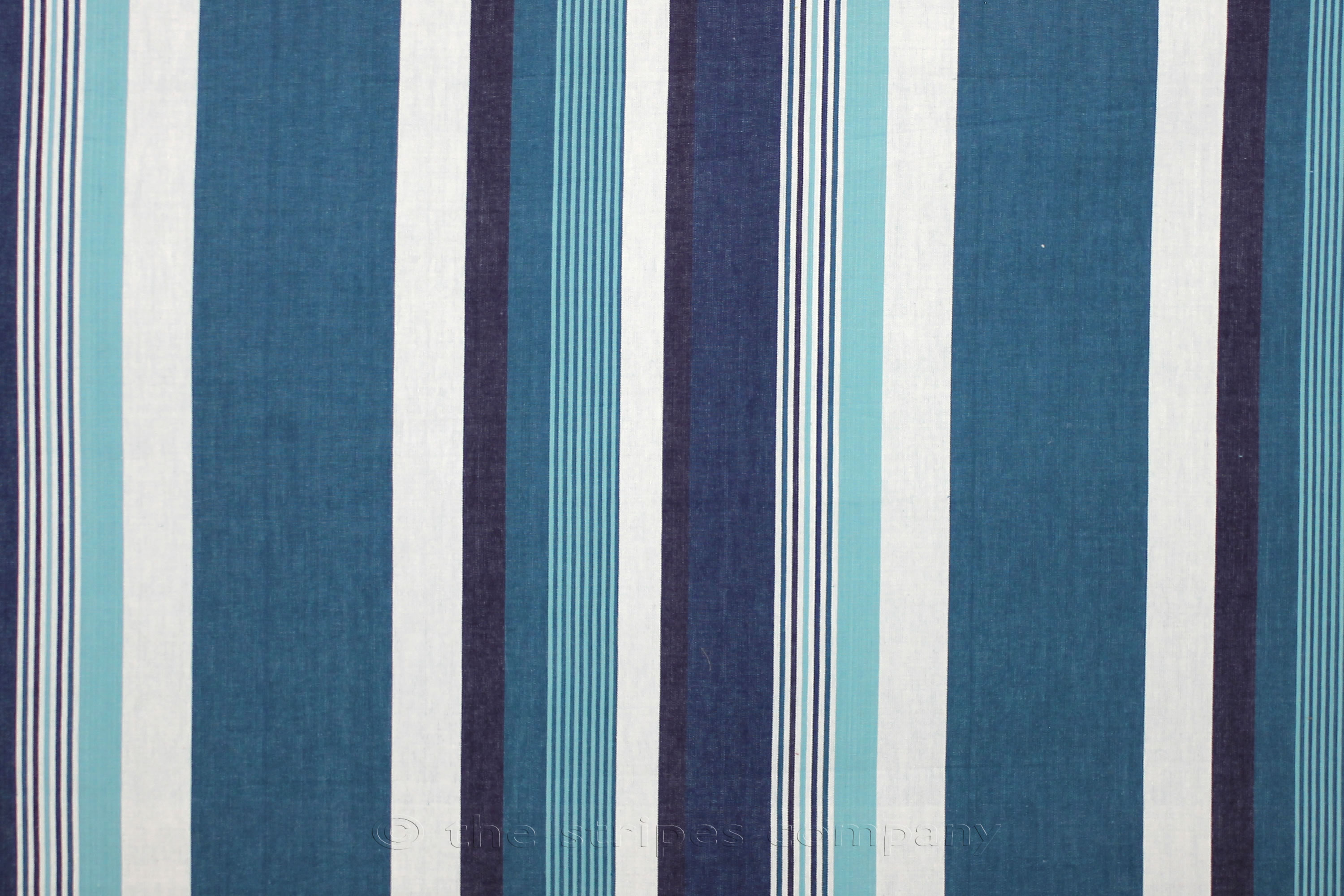 Teal Striped Fabrics Stripe Cotton Curtain Upholstery