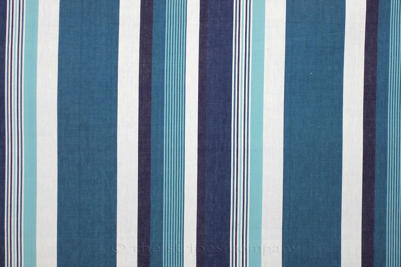 Teal Striped Fabrics | Stripe Cotton Fabrics | Striped Curtain Fabrics ...