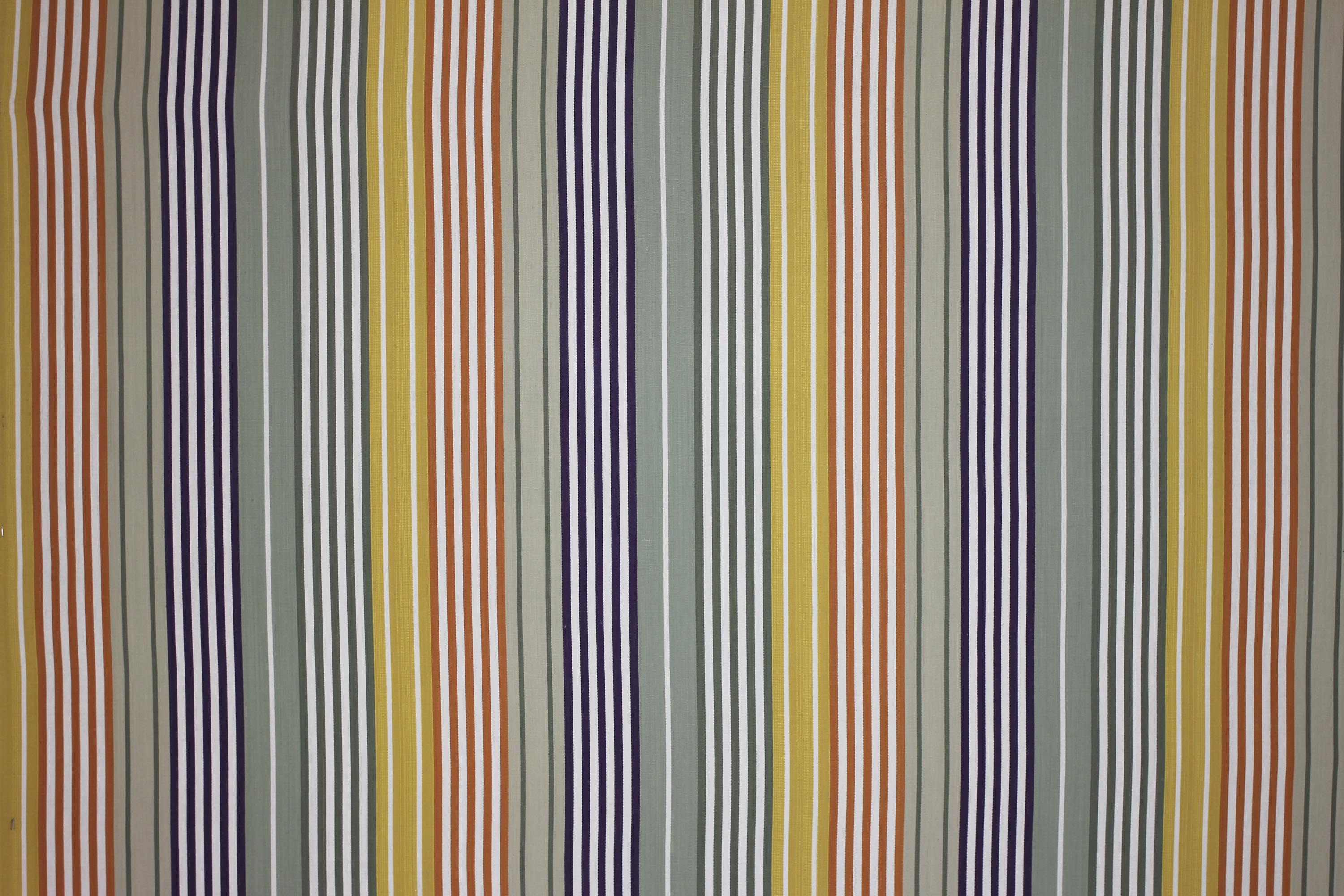 Sage Green Striped Fabrics -  Boules Stripe