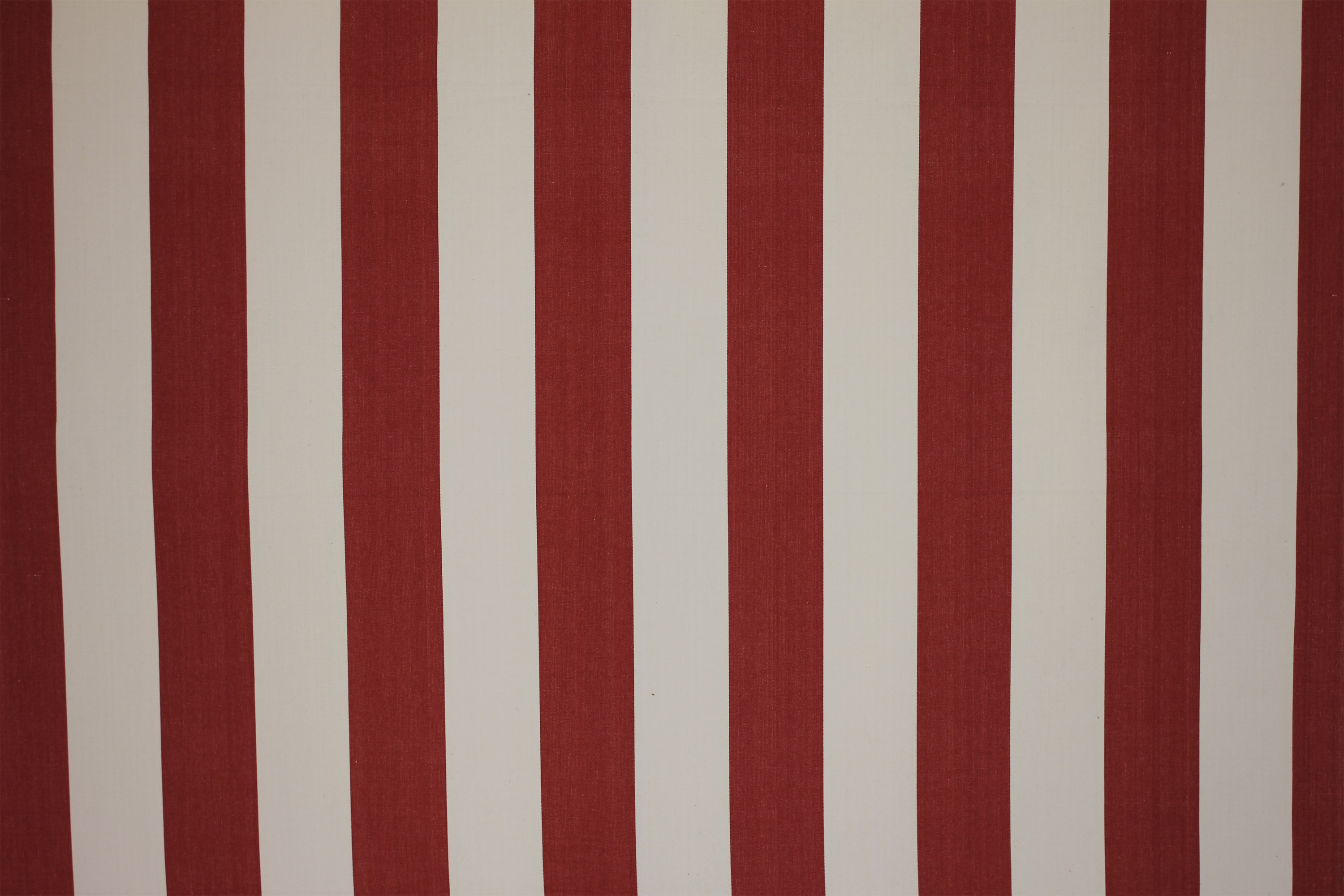 Red Striped Fabric - Punch and Judy Stripe