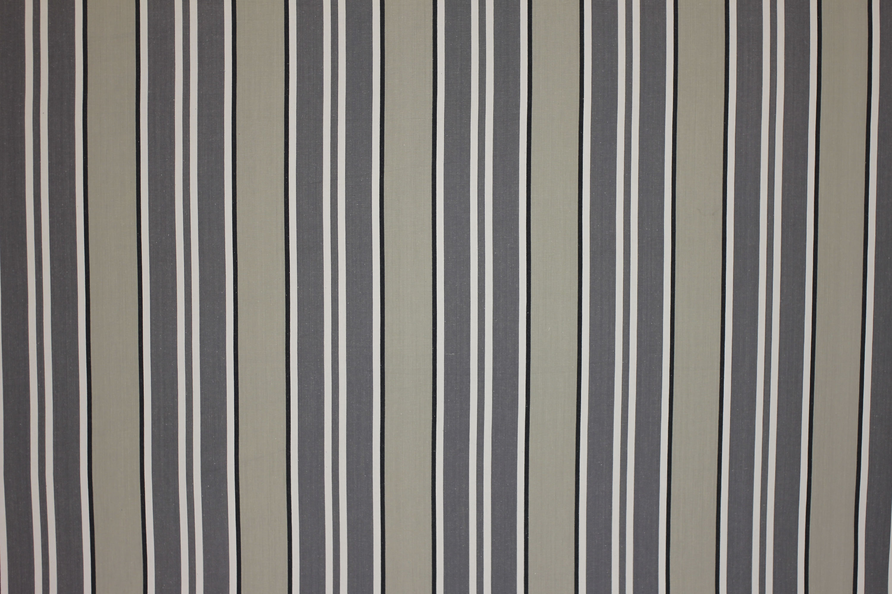 Grey Striped Fabrics | Stripe Cotton Fabrics | Striped Curtain Fabrics | Upholstery Fabrics  Kendo Grey Stripes