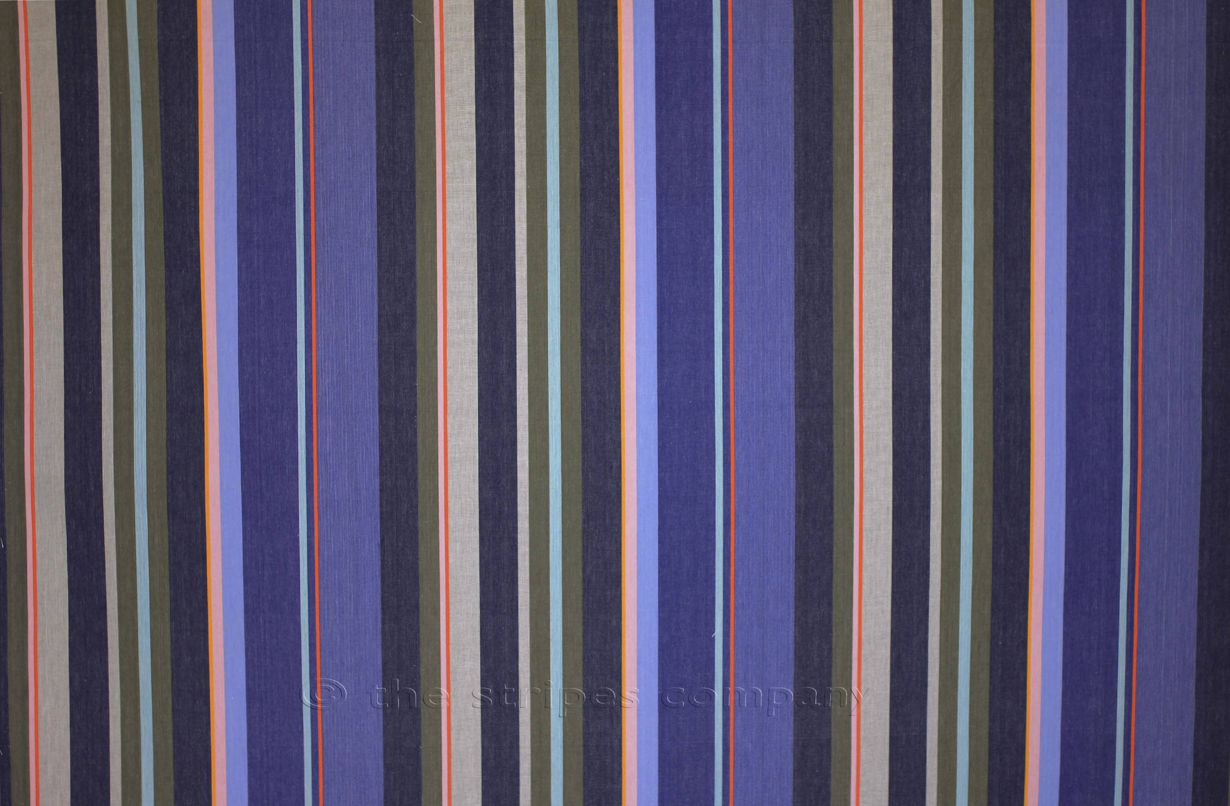 Navy Blue Striped Fabrics | Stripe Cotton Fabrics -  Kiting Stripe