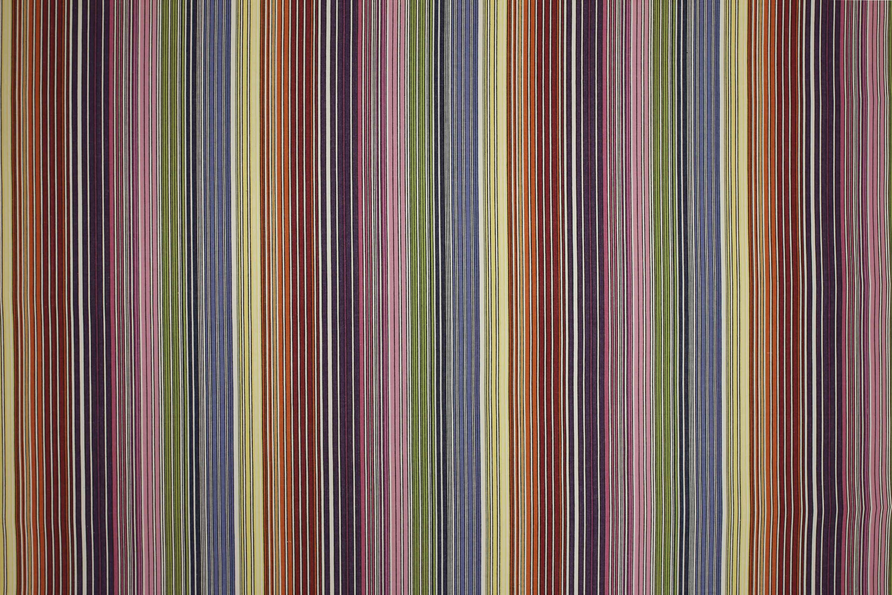 Rhumba Rainbow and White Striped Fabric