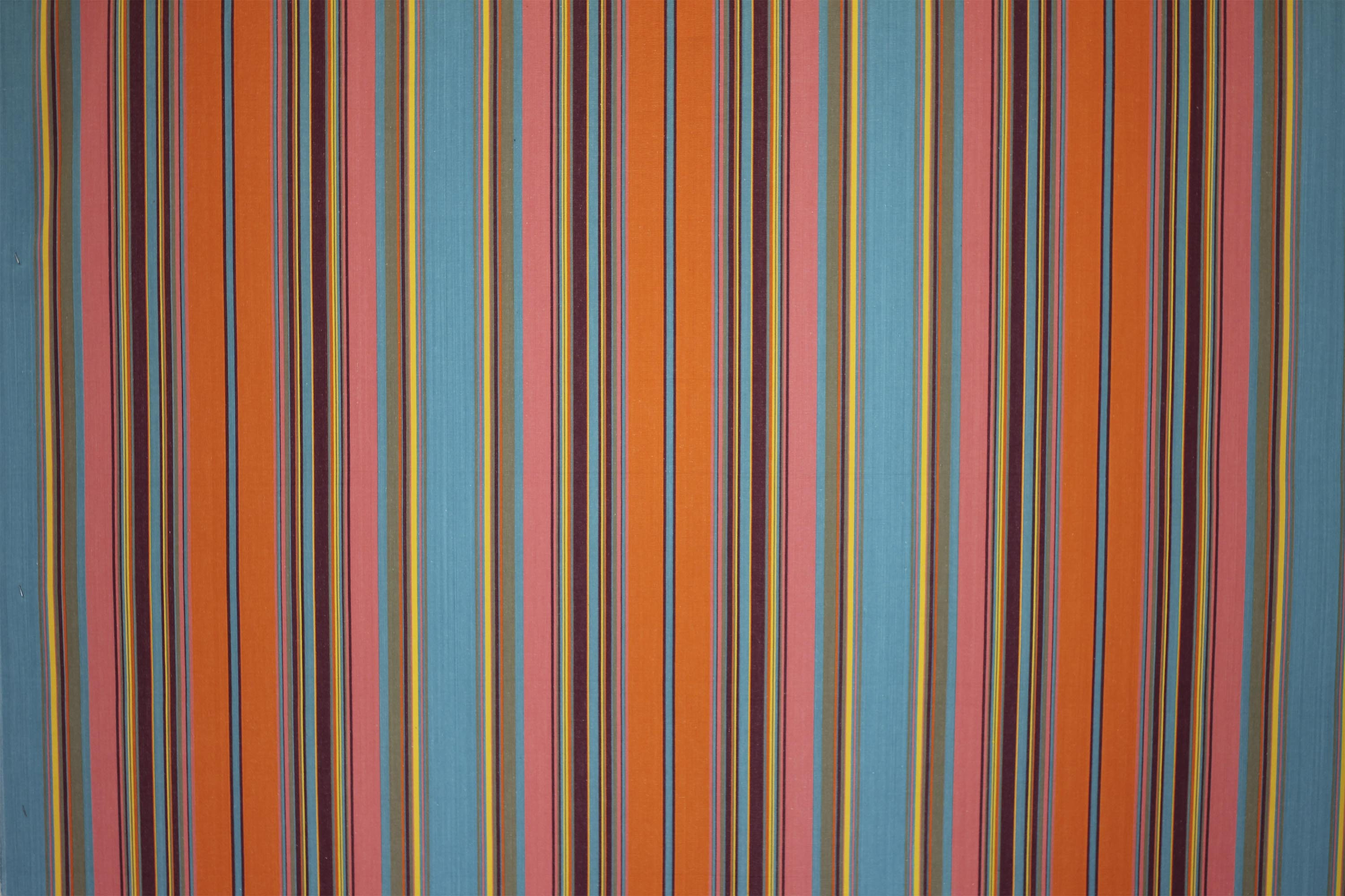 Slalom Turquoise and Salmon Pink Striped Fabric