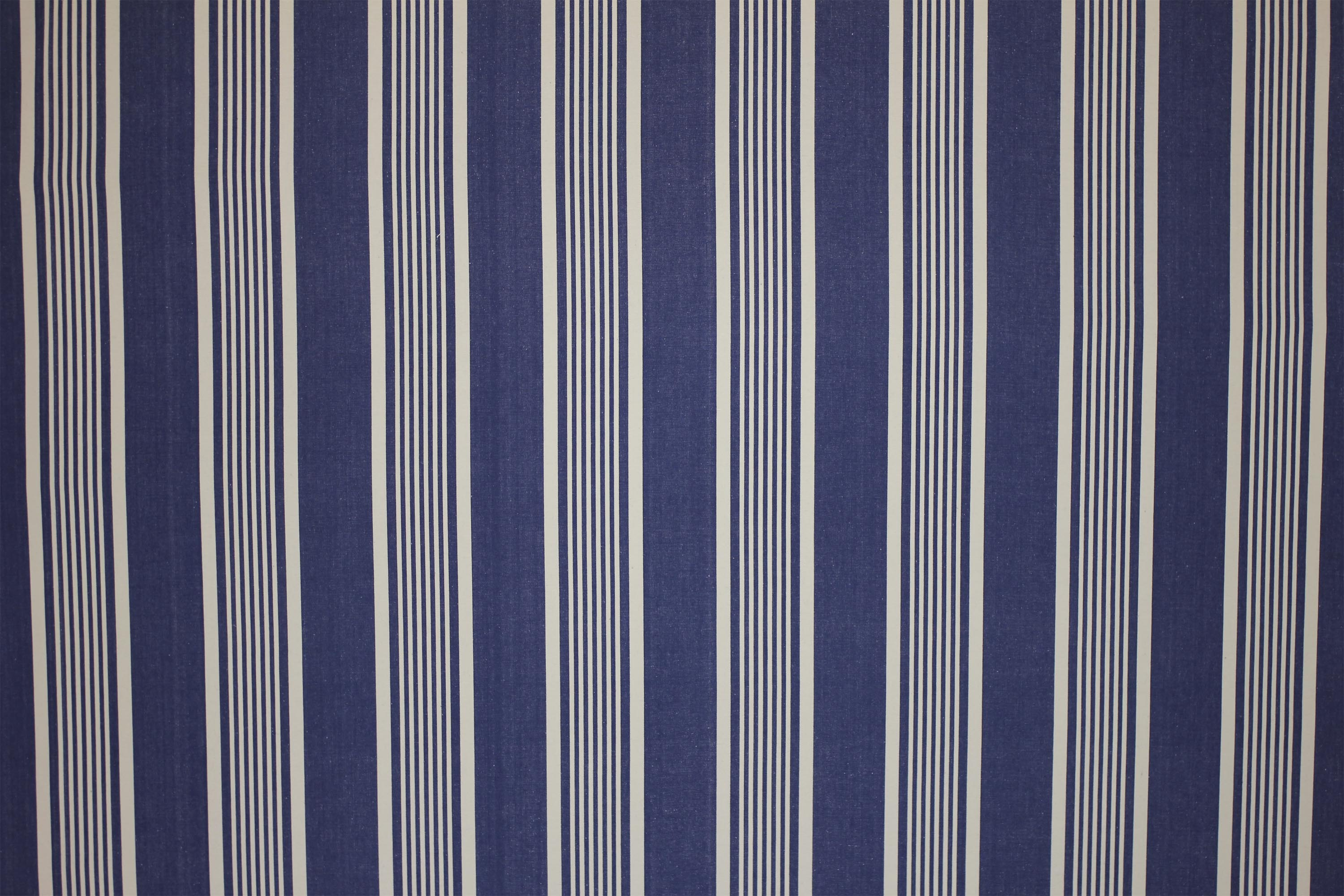 Snowboarding Navy Blue Striped Fabric