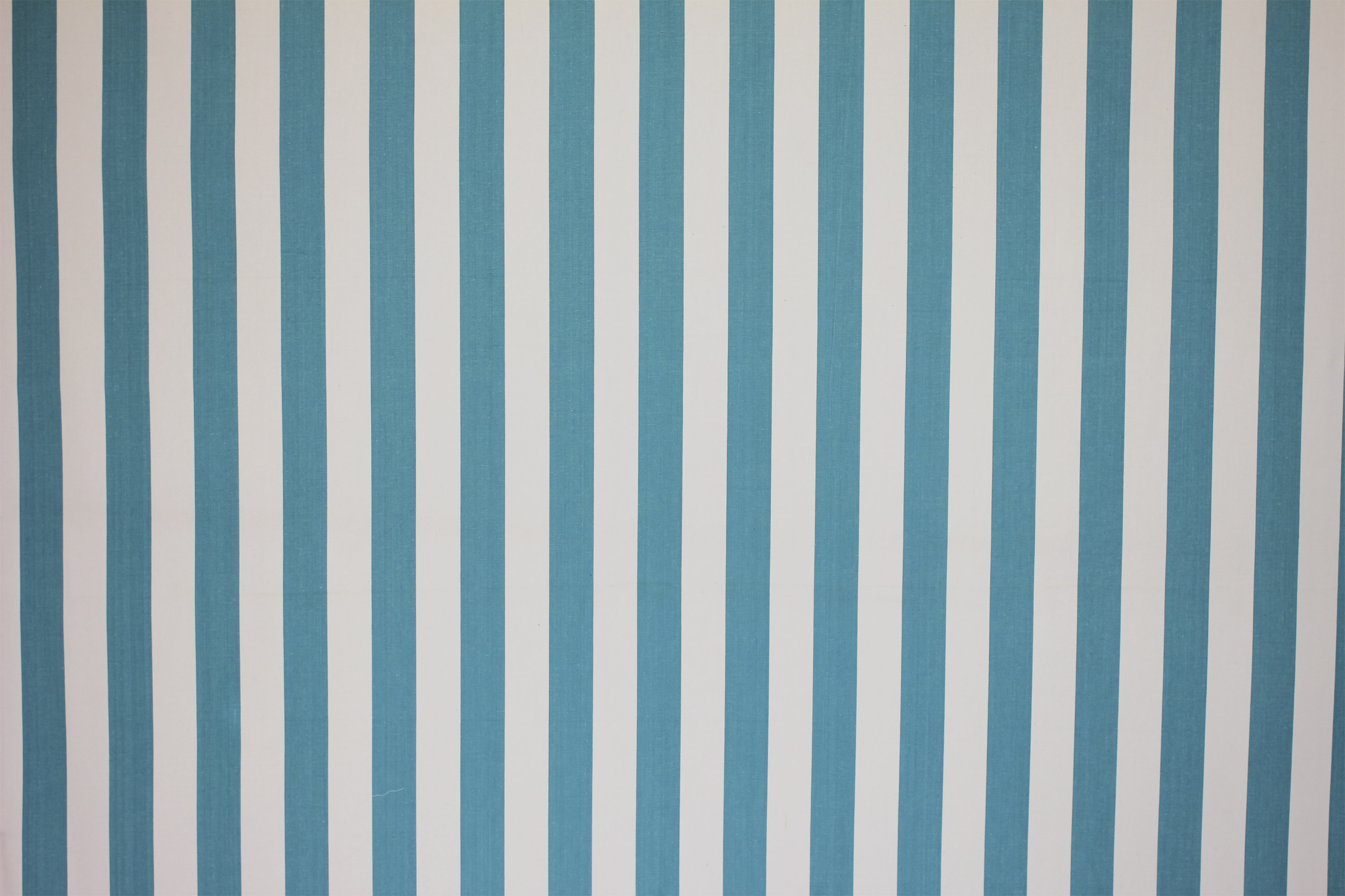 Surfing Turquoise and White Striped Fabric