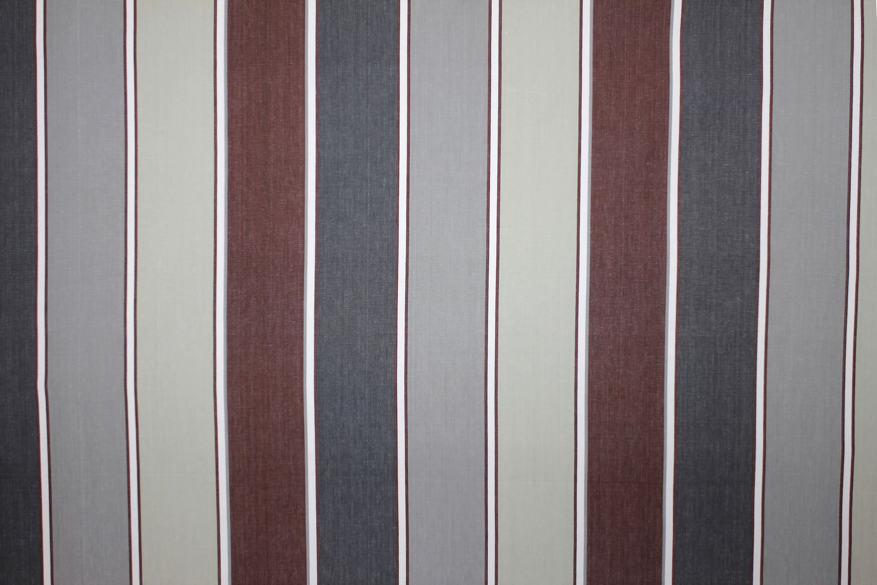 Tobogganing Grey Striped Fabric