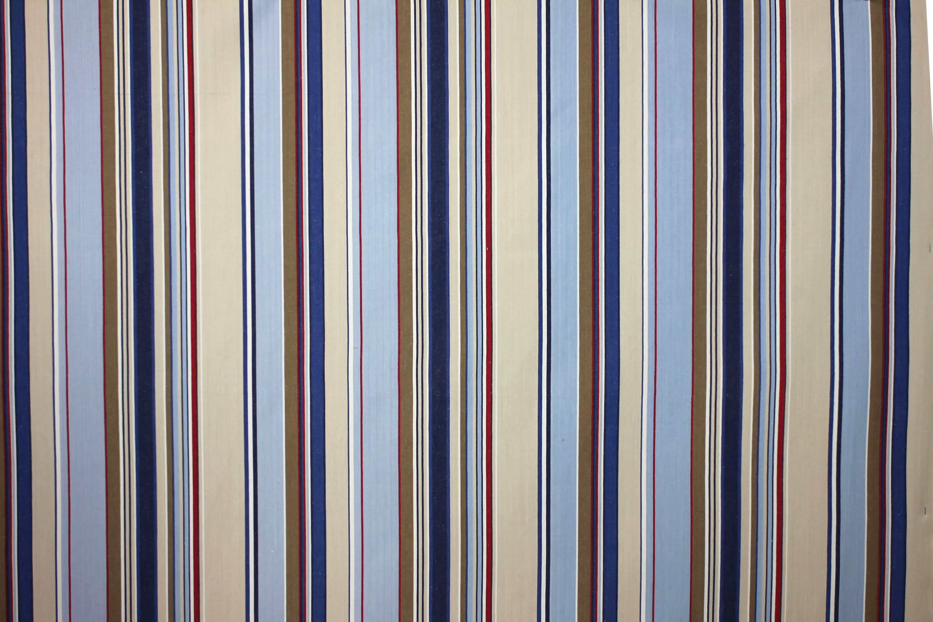 Trapeze Pale Blue Striped Fabric The Stripes Company