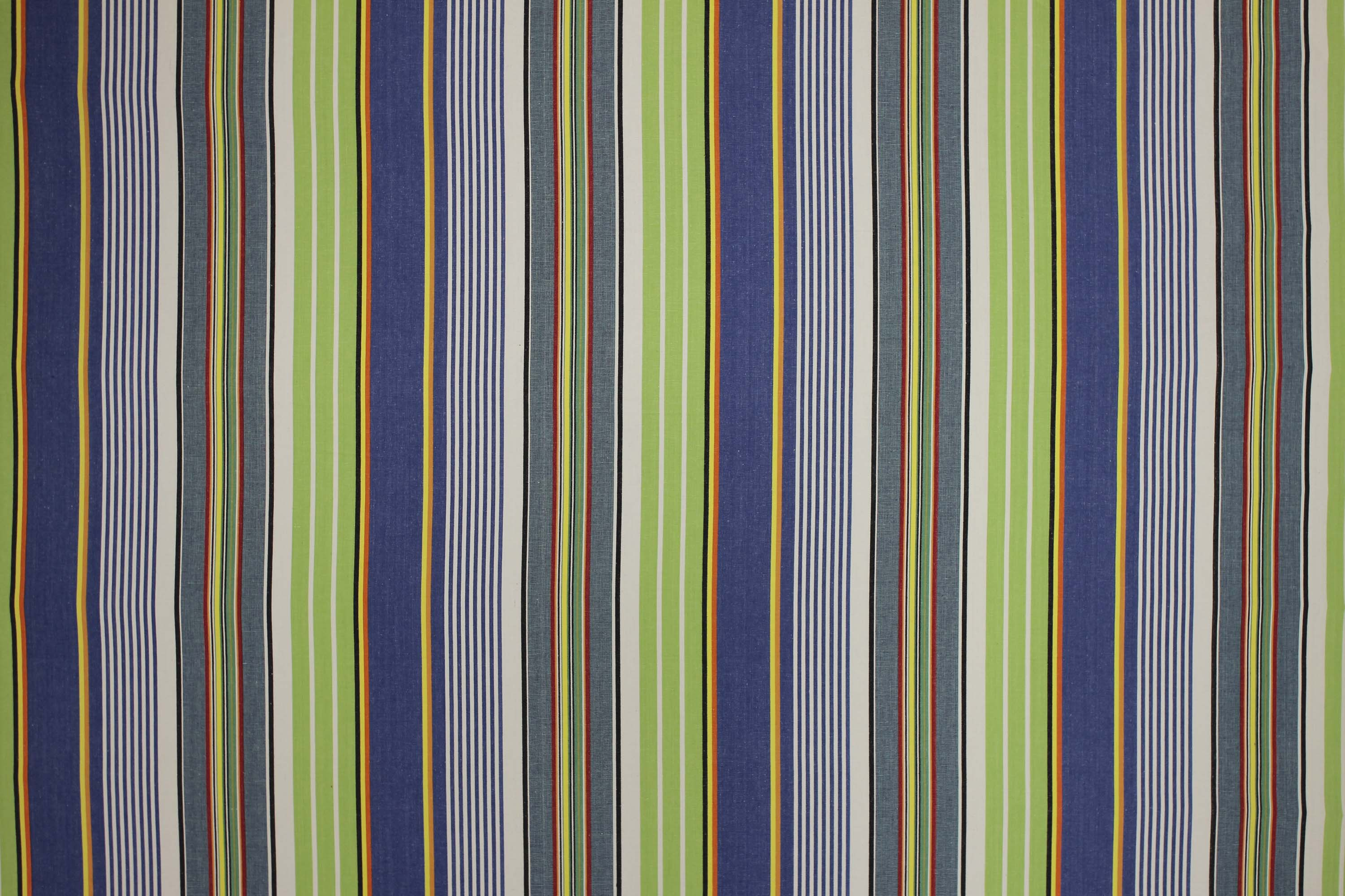 Blue and Green Striped Fabric - Tumbling