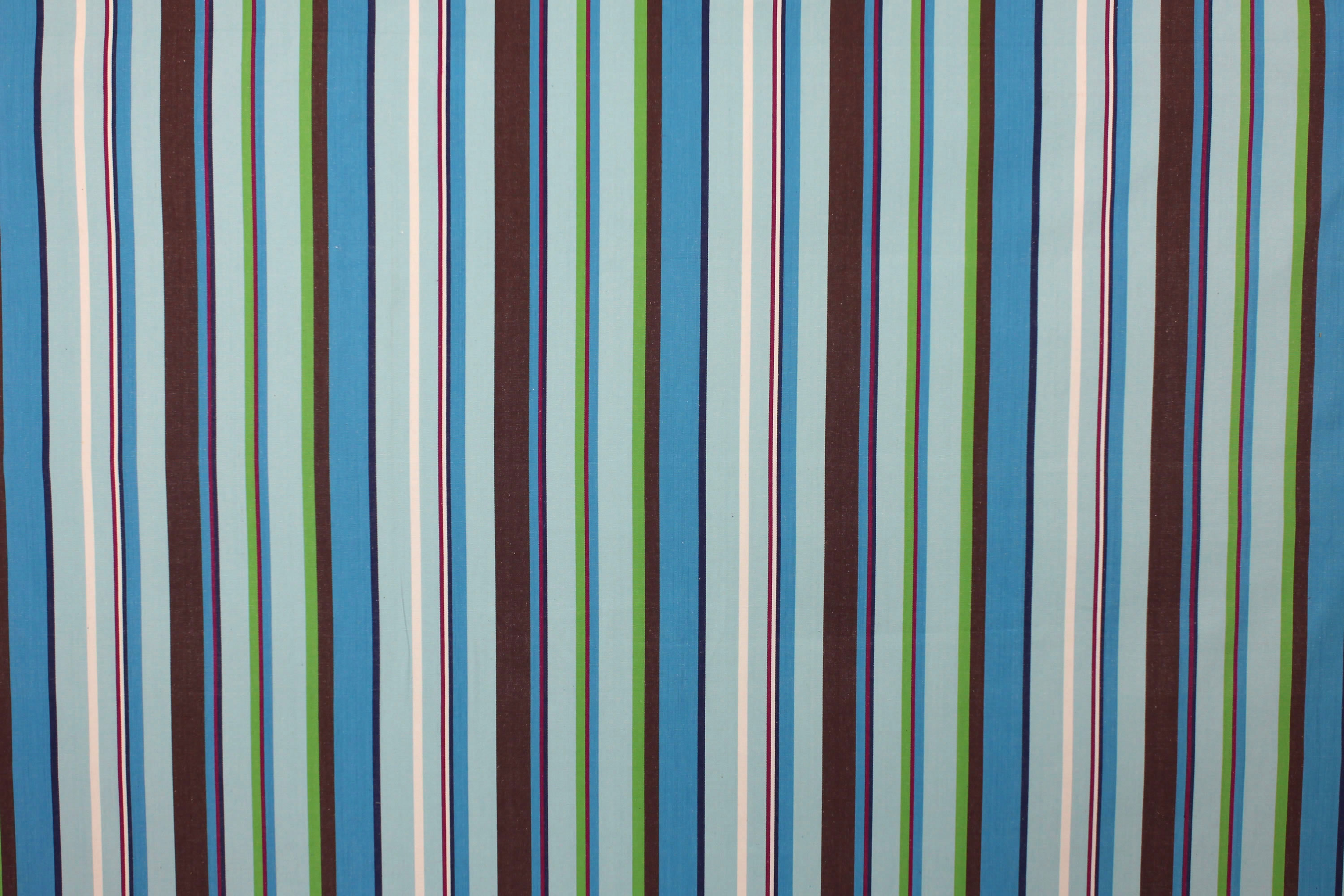 Turquoise Striped Fabrics | Stripe Cotton Fabrics | Striped Curtain Fabrics | Upholstery Fabrics  Windsurfing Stripes