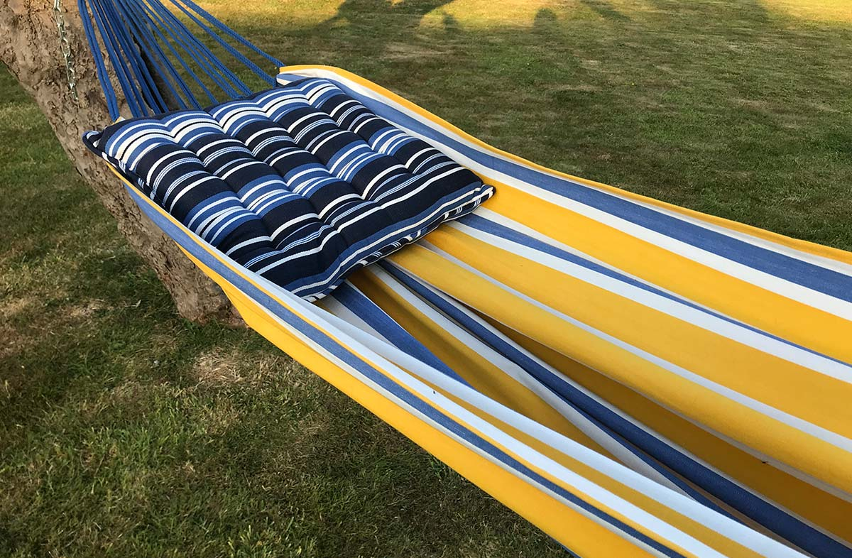 Yellow, Blue and White Striped Hammocks
