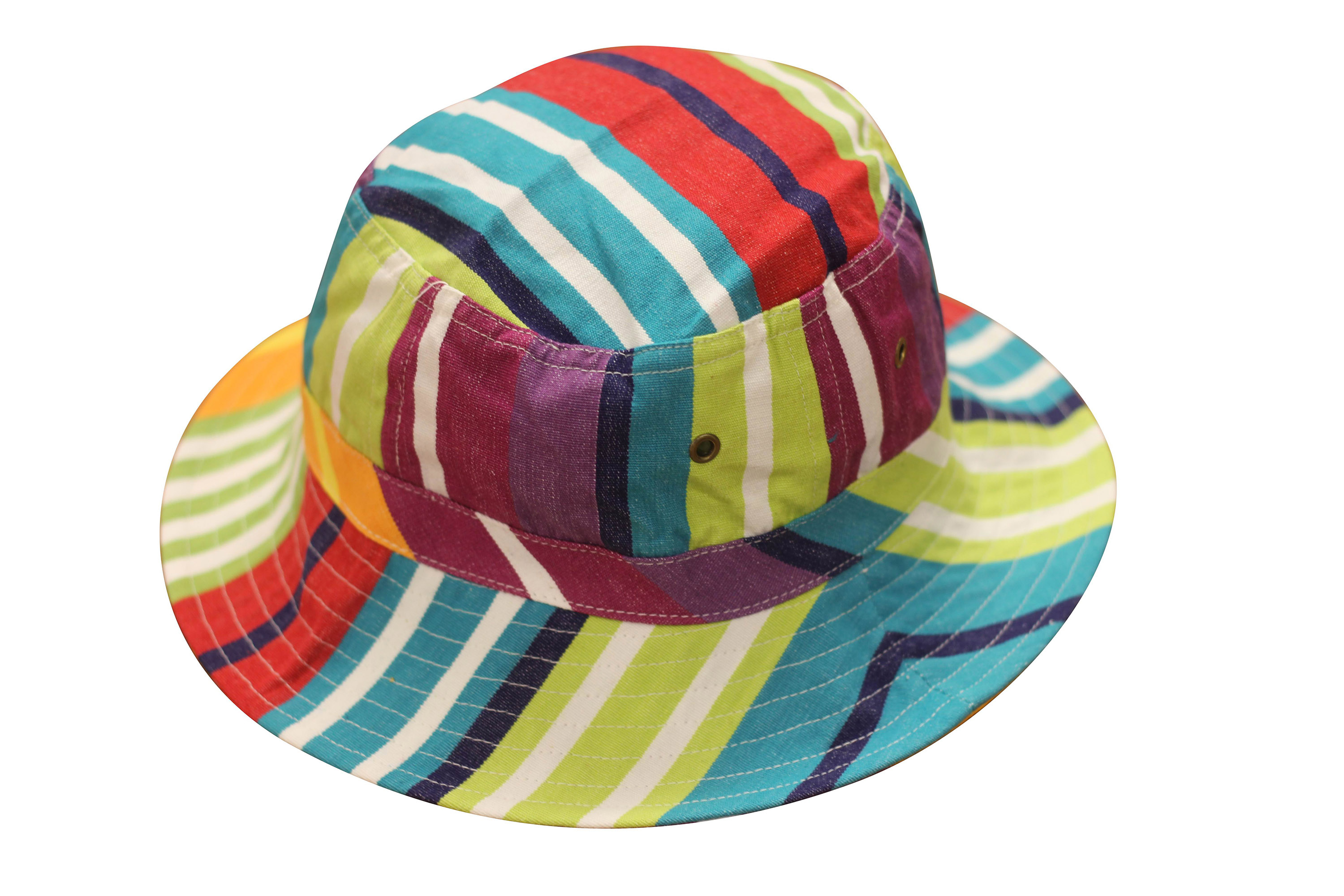 Turquoise Striped Sun Hats | Sun Protection Hat  Aerobics Stripes