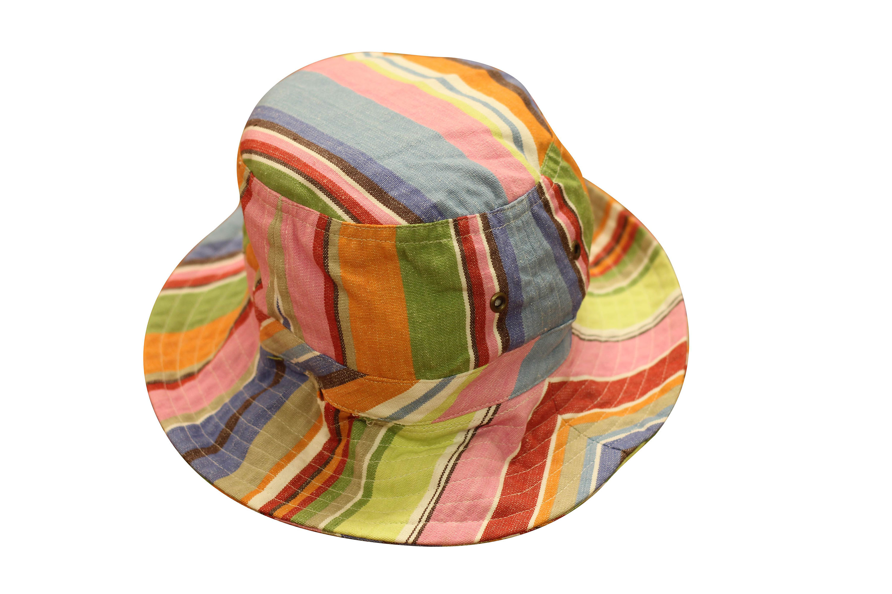 Light Blue and Pink Striped Bucket Hat | Sun Protection Hat  Baseball Stripes