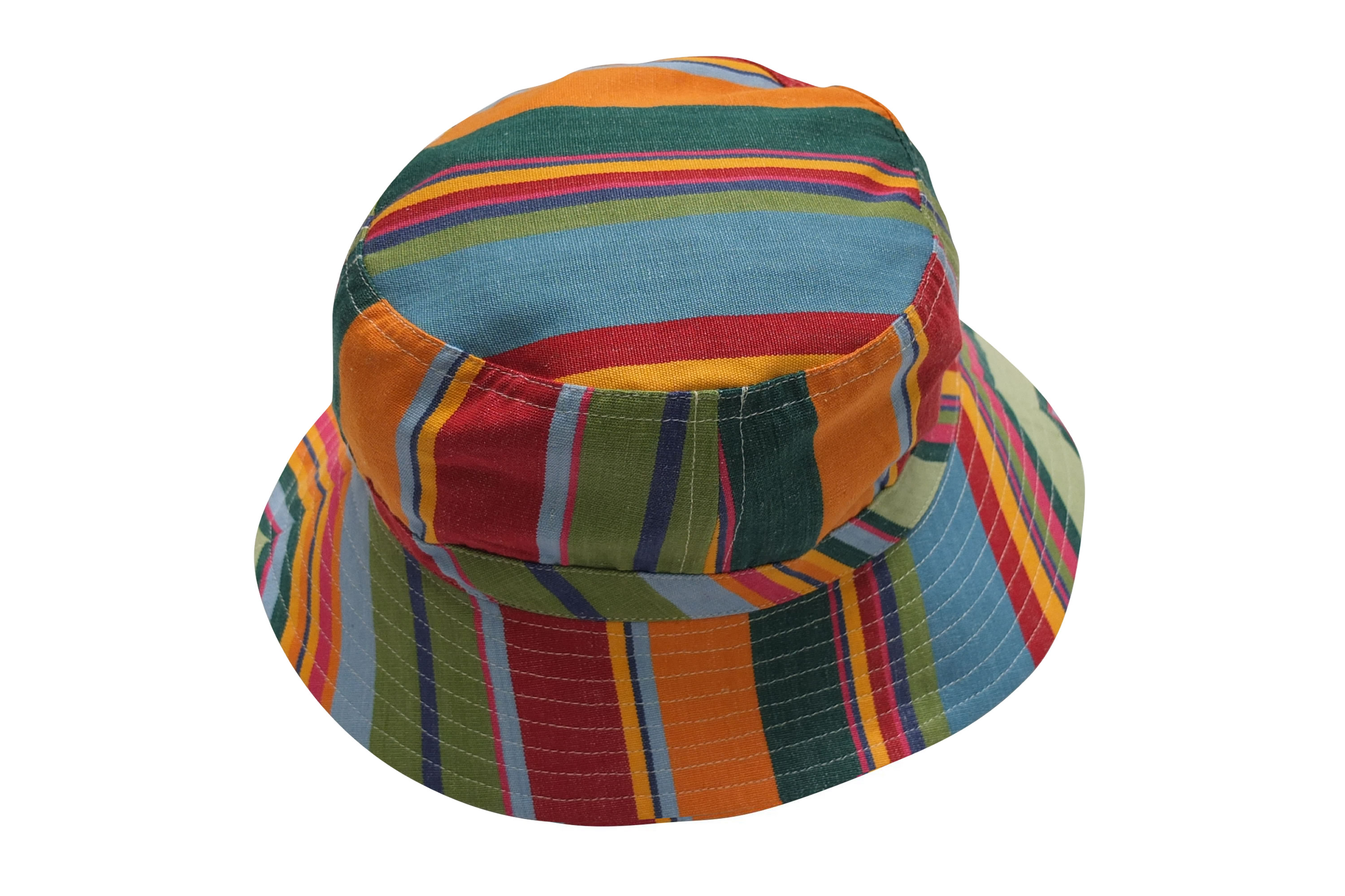 Bottle Green Striped Sun Hats | Sun Protection Hat  Bowling Stripes