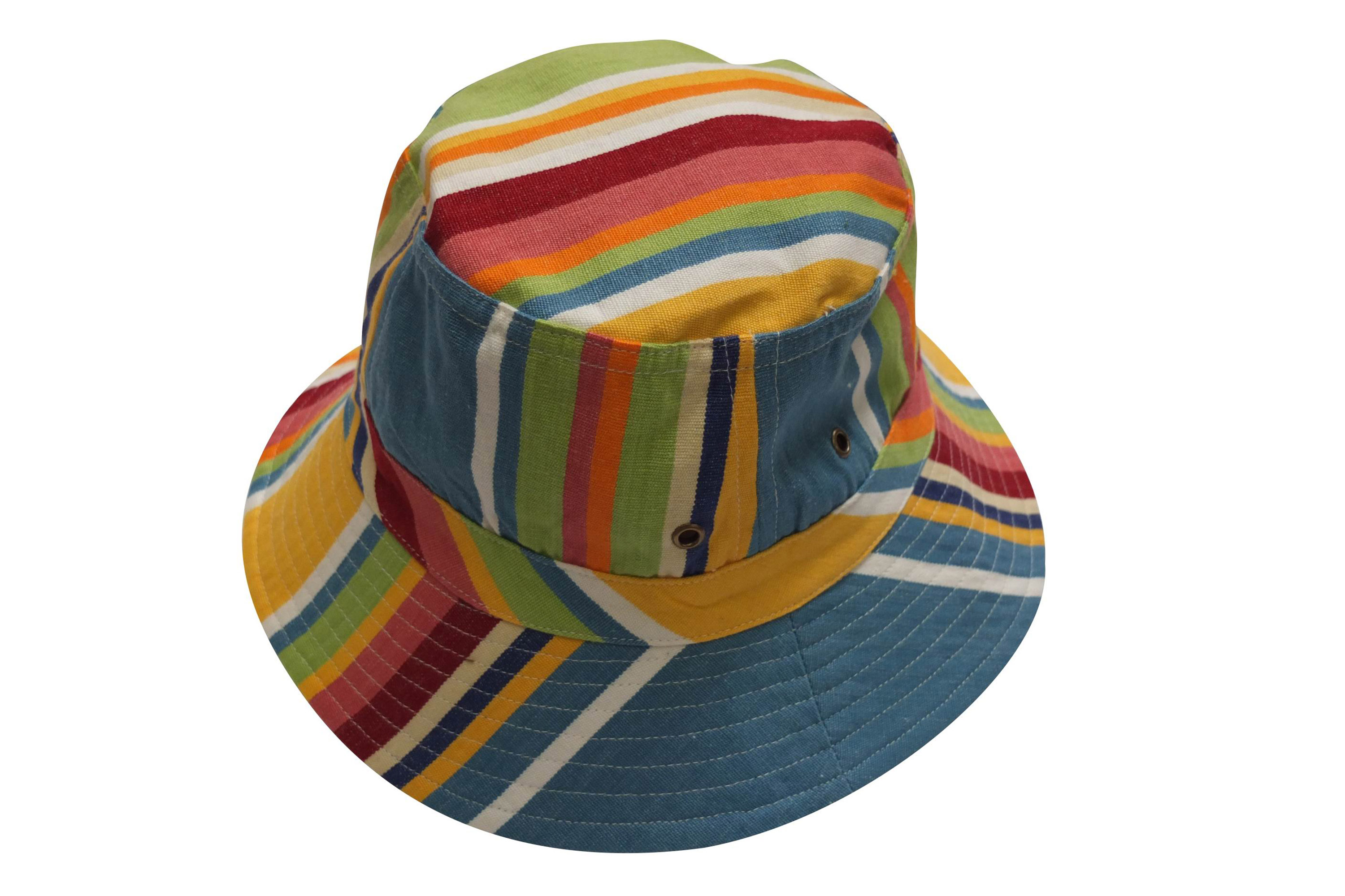 Cricket Yellow Bucket Hat - Stripe Sun Hat