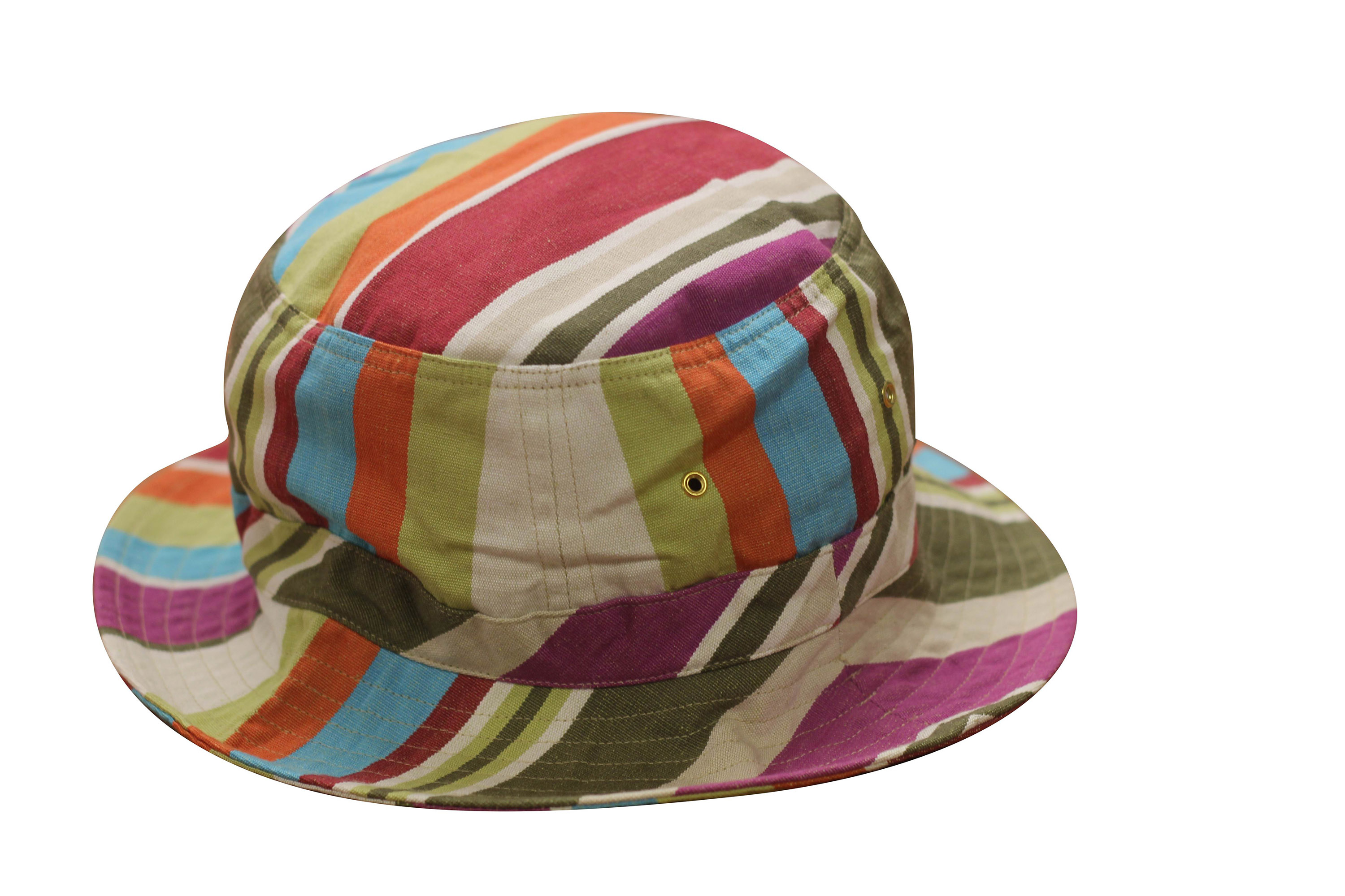 Cream Striped Bucket Hats | Sun Protection Hat - Dressage Stripes