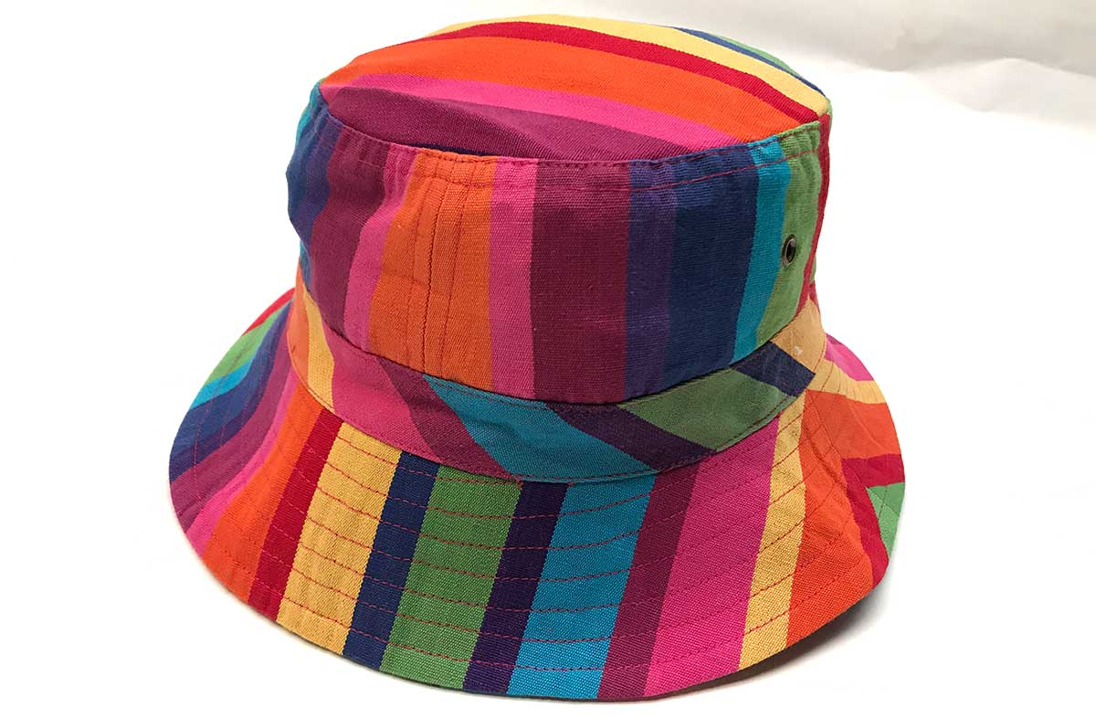 50a4bd4483c multi colour pink green blue - Striped Sun Hats