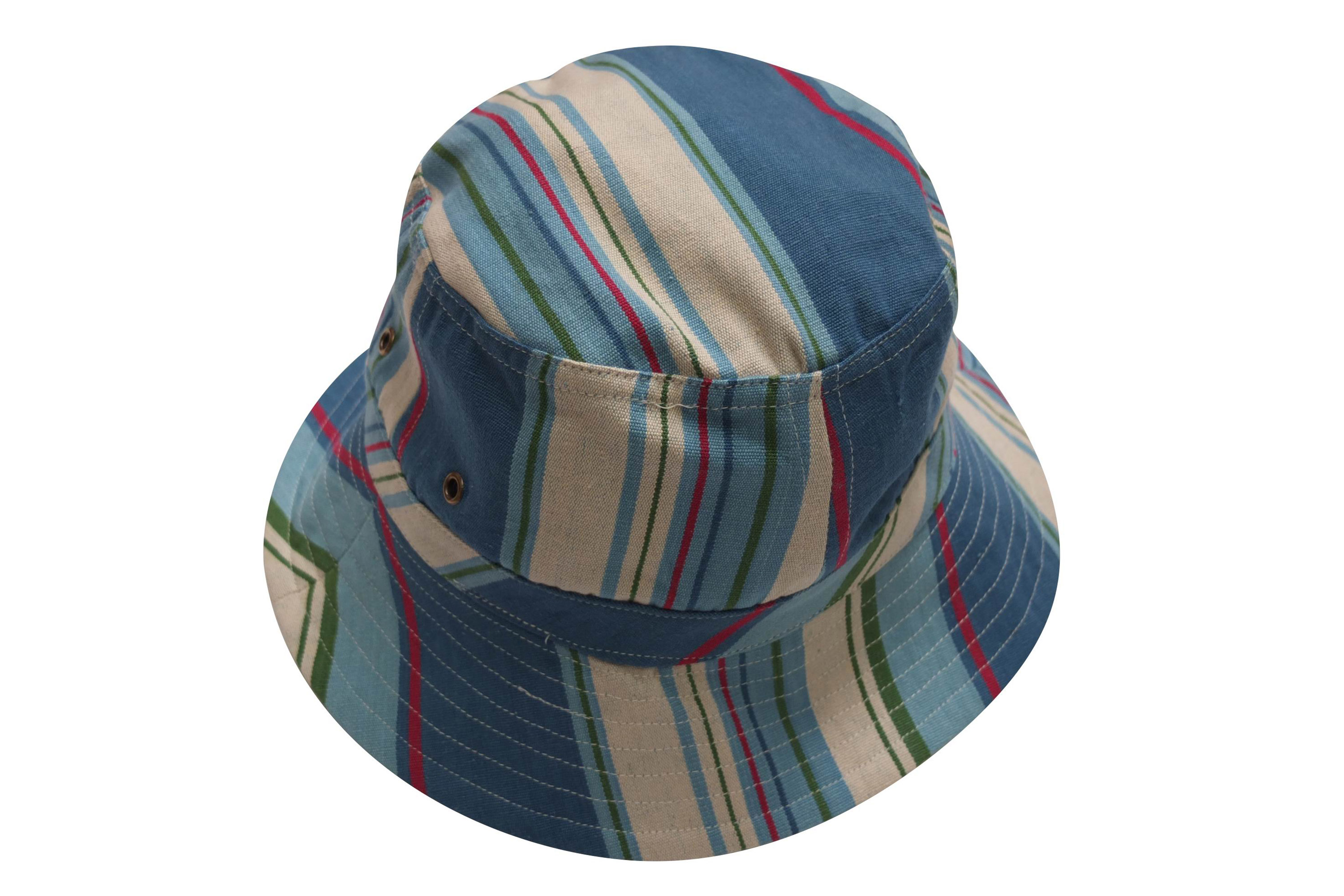 Petrol Blue Striped Sun Hats | Sun Protection Hat | Sailing Stripe