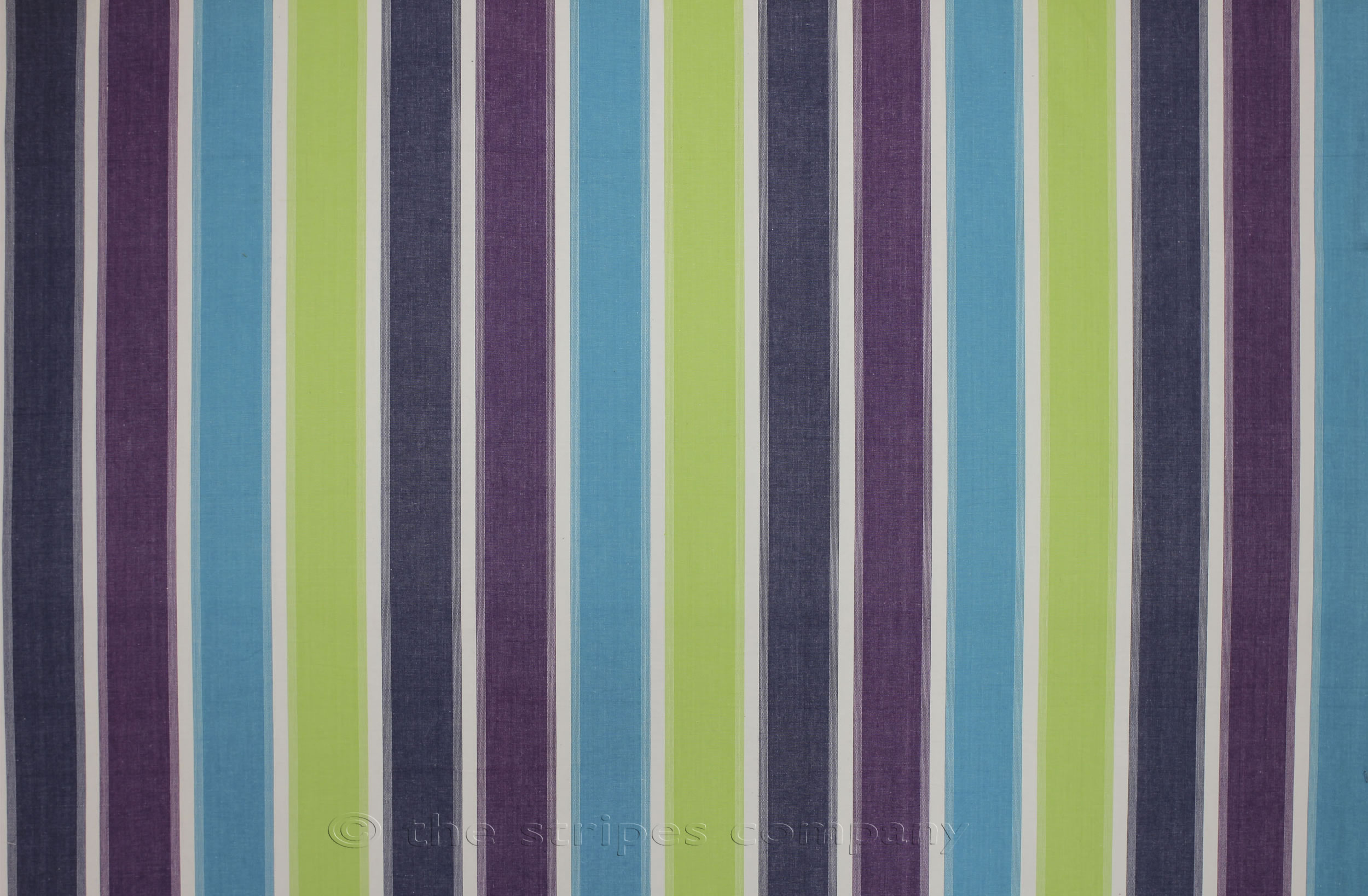 lime green, turquoise, white - Striped Oilcloth Fabric | Wipeable Stripe Fabrics
