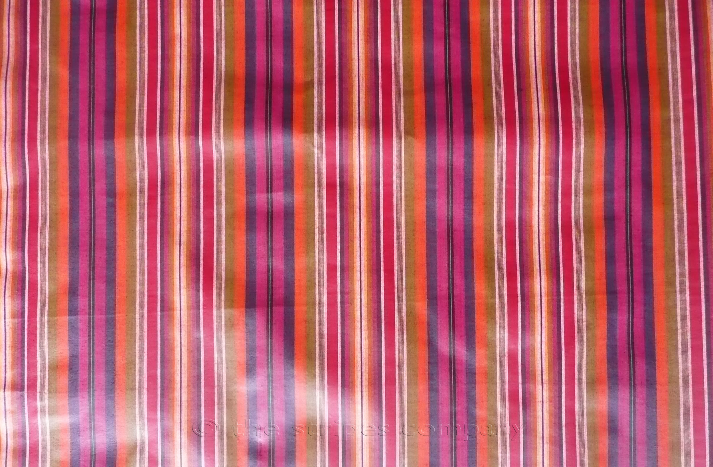 Pink Striped Oilcloth Fabrics | Wipeable Stripe Fabrics Pointe Stripes