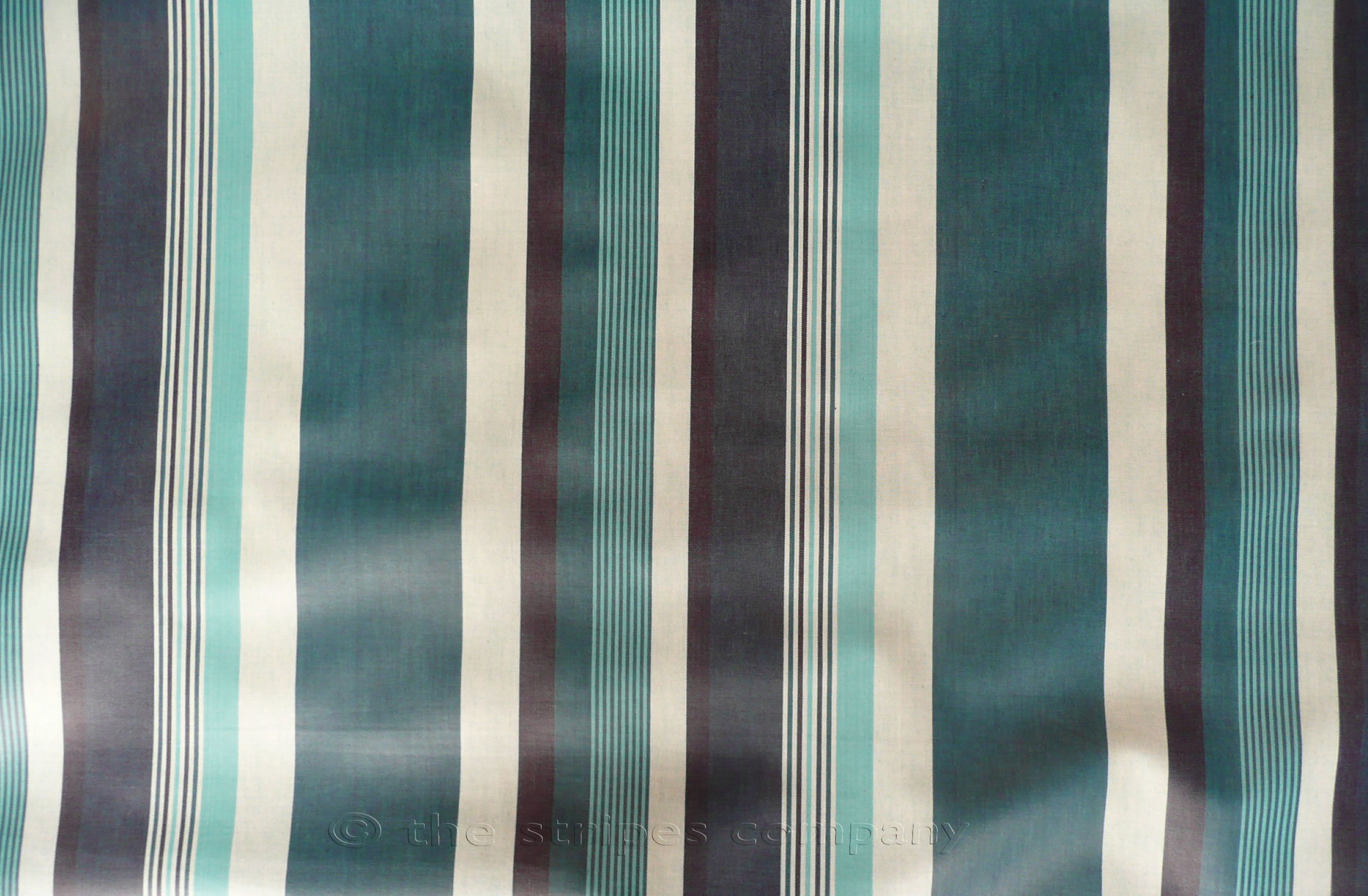 Teal Striped Oilcloth Fabrics | Wipeable Stripe Fabrics Swing Stripes