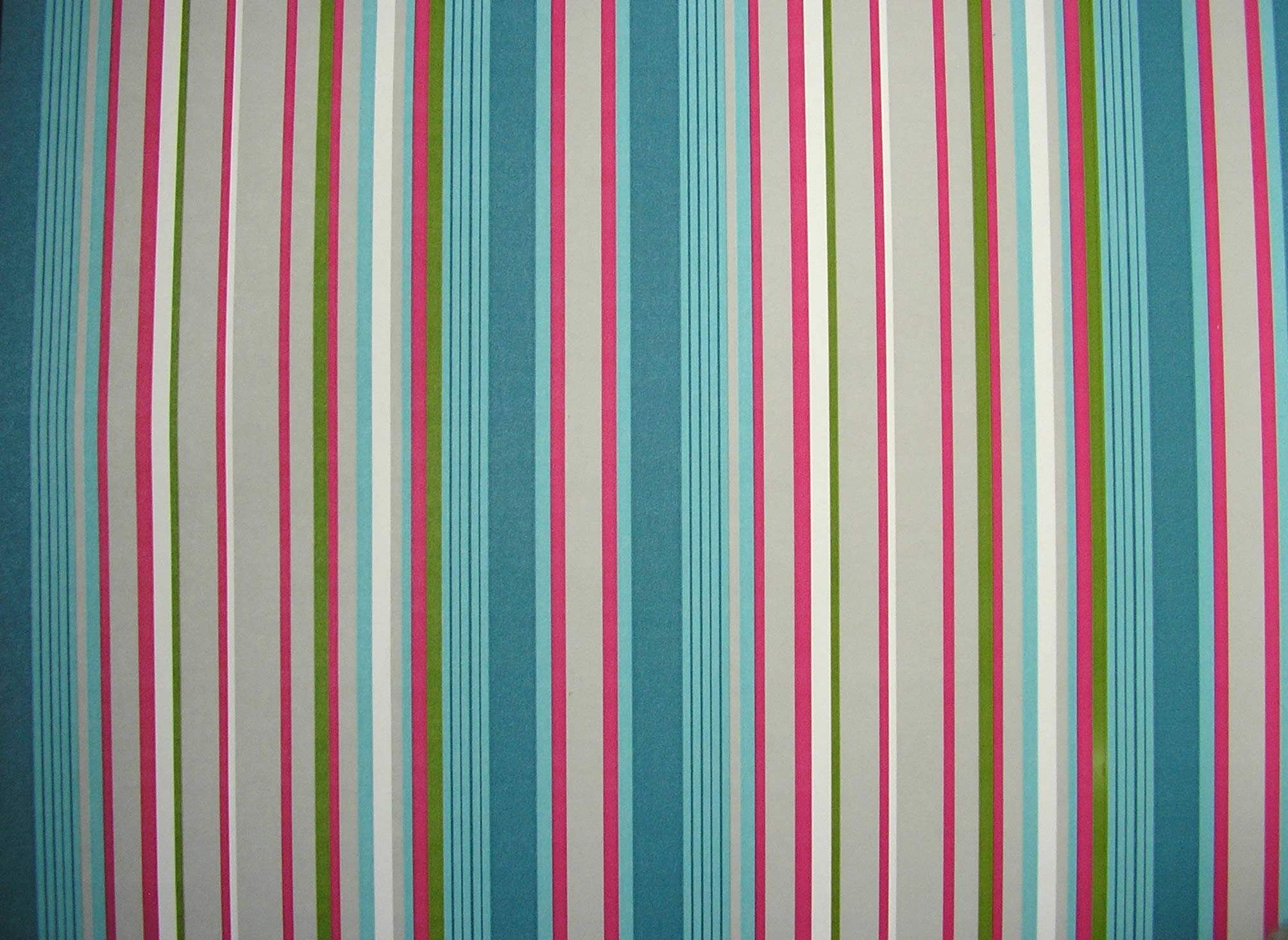 Petrol Blue Striped Wallpaper