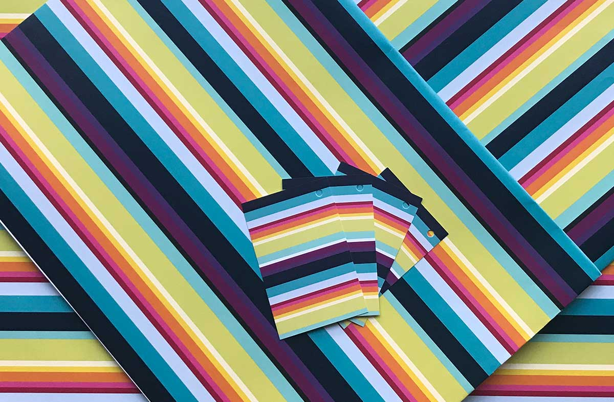 Rainbow Stripe Gift Wrap - The Stripes Company
