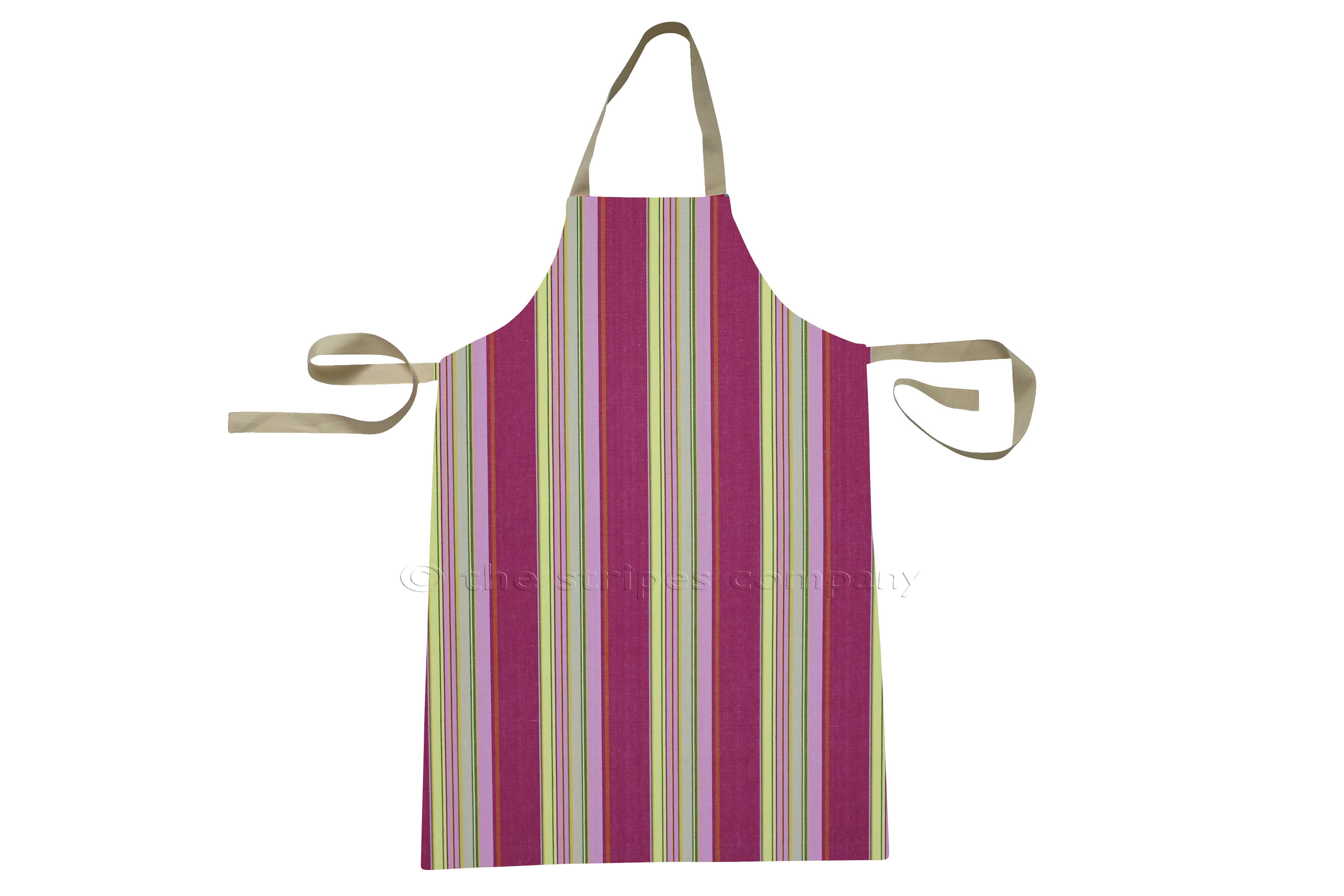 Pink Stripe Toddlers Aprons - Striped Aprons For Small Children