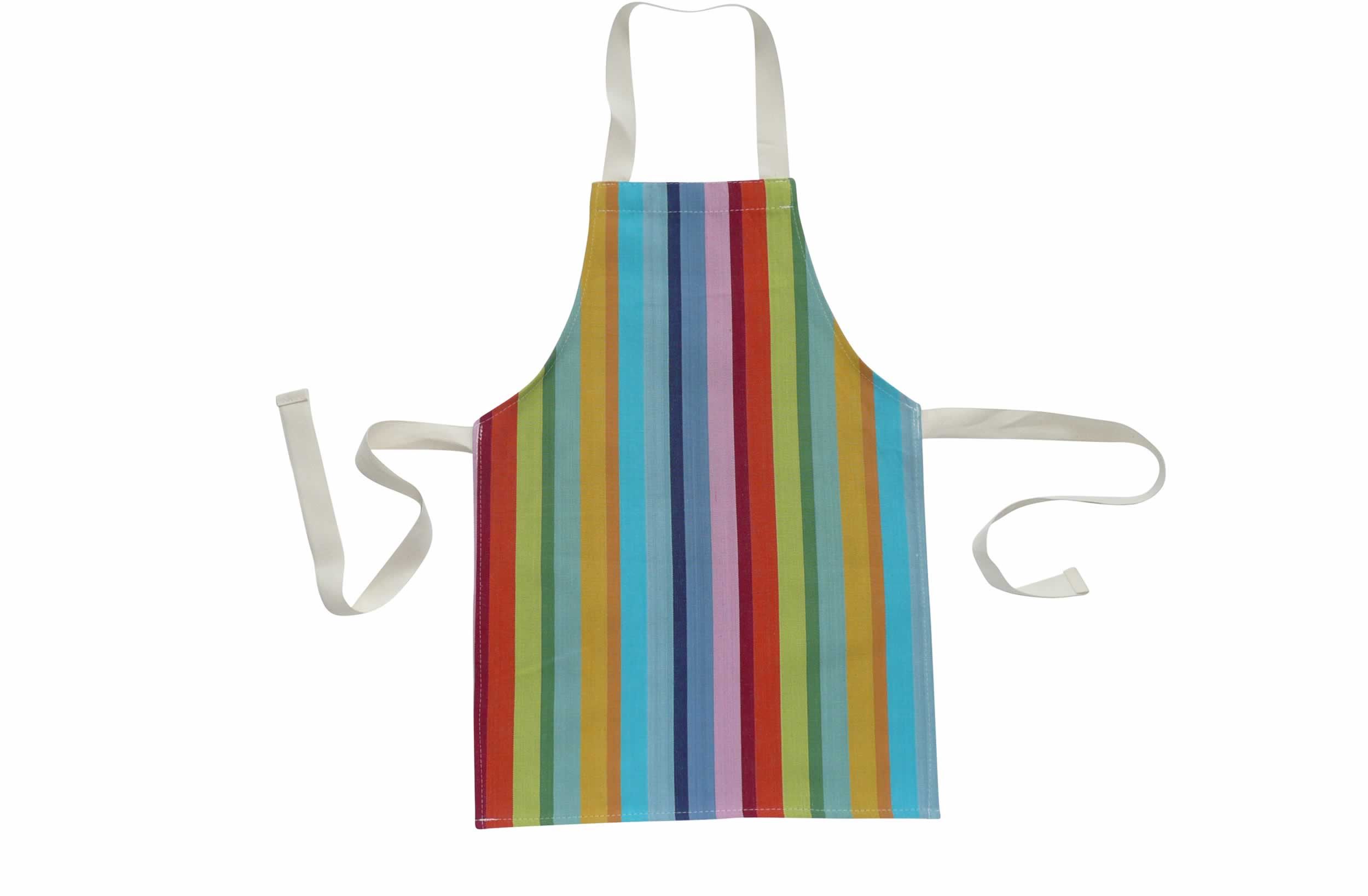 Rainbow Stripe Toddlers Aprons - Tango Stripe