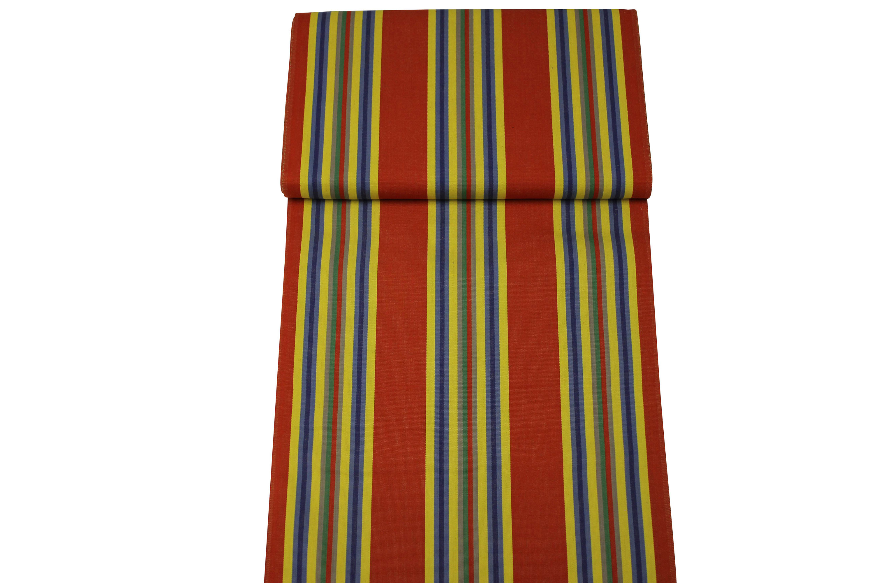 Red Deckchair Canvas Vintage Archive Striped Fabrics