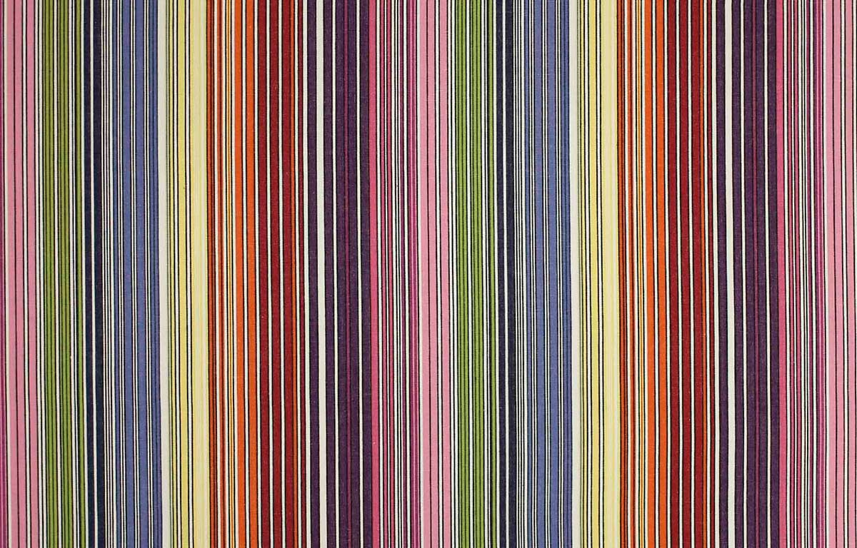 Narrow Rainbow Striped Water Repellent Fabric
