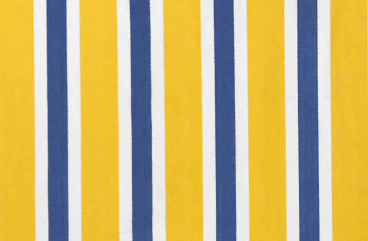 Yellow Blue And White Striped Fabric The Stripes