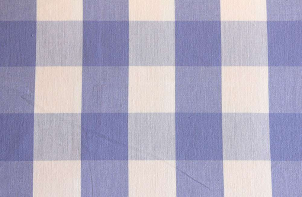 Gingham Large Check Fabric Lavender Blue And White